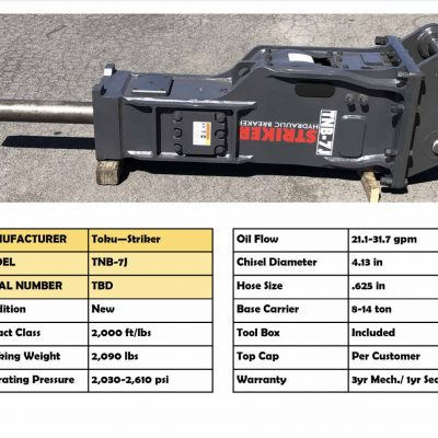 TNB-7J Hydraulic Breaker for sale
